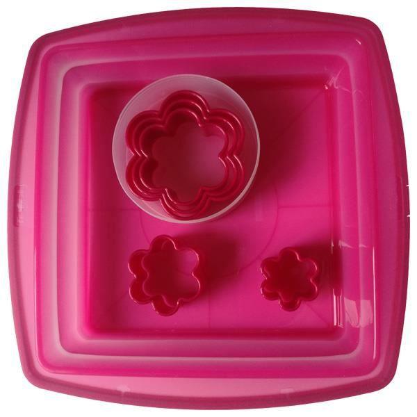 Tefal - Pâtisserie Créative - Moule Cake carré + 5 emporte-pièces fleurs
