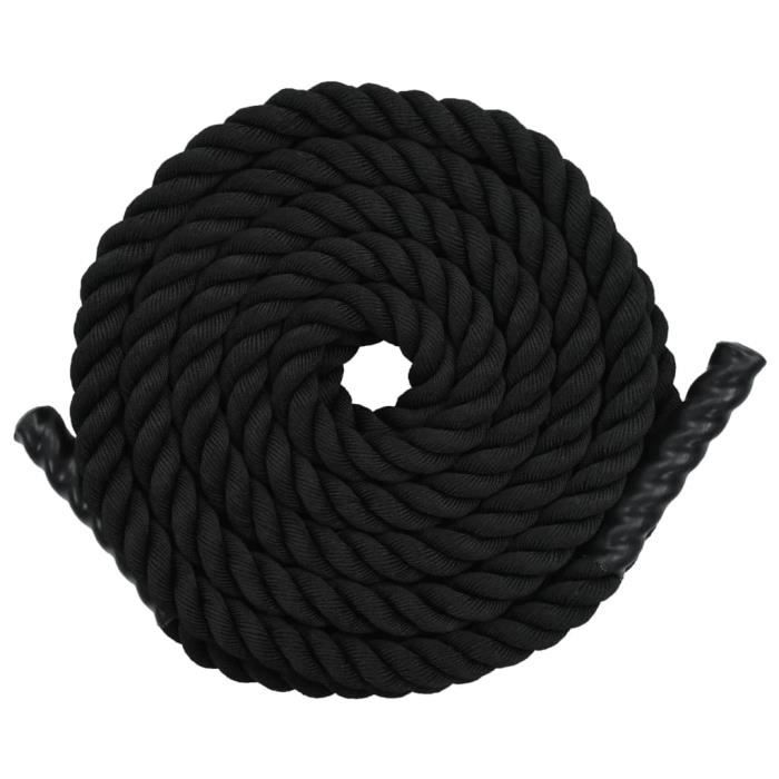 vidaXL Corde de traction 15 m Polyester Noir