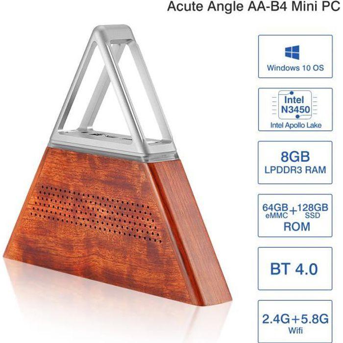 UNITÉ CENTRALE  Mini PC Acute Angle AA-B4 DIY Intel Apollo Lake N3
