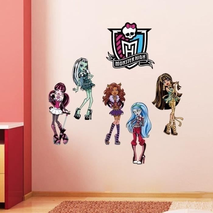 Deco chambre monster high good monster high with deco for Stickers monster high pour chambre