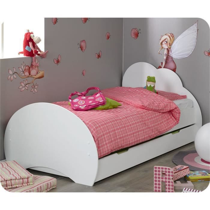 eb pack lit enfant nuage blanc avec sommier e achat. Black Bedroom Furniture Sets. Home Design Ideas