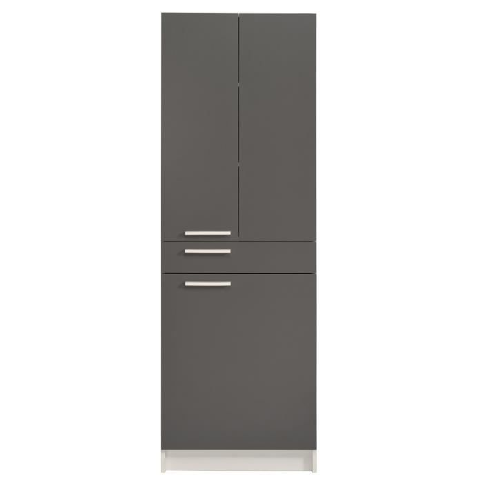 colonne luxus gris ombre blanc achat vente colonne armoire sdb colonne luxus gris ombre b. Black Bedroom Furniture Sets. Home Design Ideas