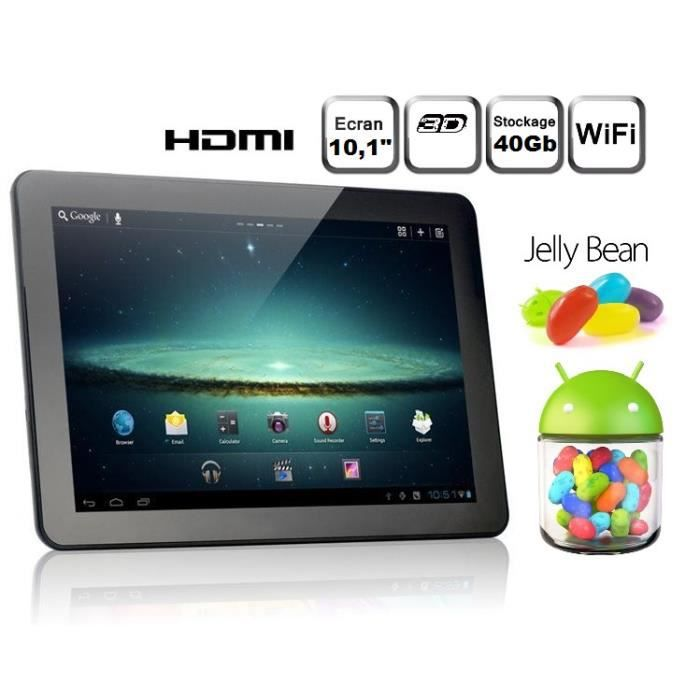 tablette tactile android 4 1 jelly bean 10 pouce achat. Black Bedroom Furniture Sets. Home Design Ideas