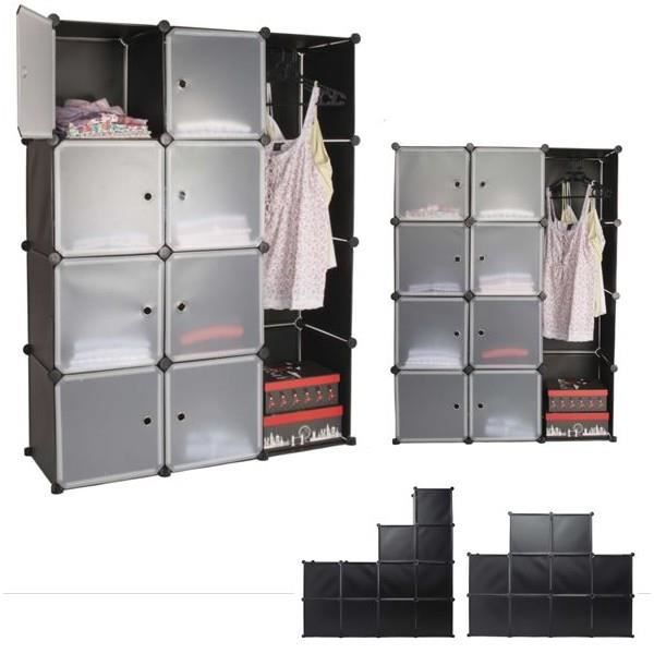 armoire de rangement modulable multifonctions 12 cubes. Black Bedroom Furniture Sets. Home Design Ideas