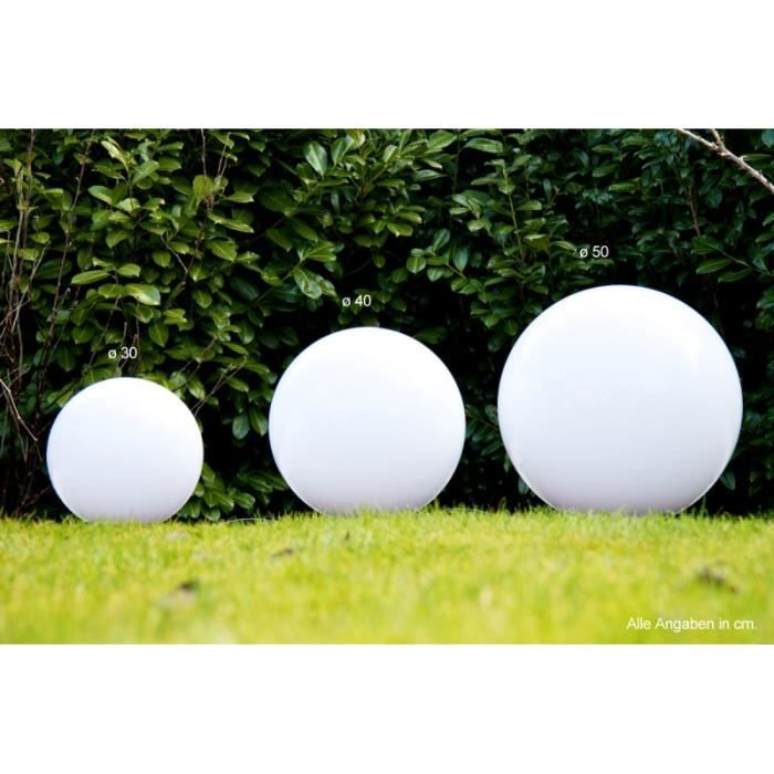 set boules lumineuses lampe jardin 30 40 50 cm achat vente d coration lumineuse set miau. Black Bedroom Furniture Sets. Home Design Ideas