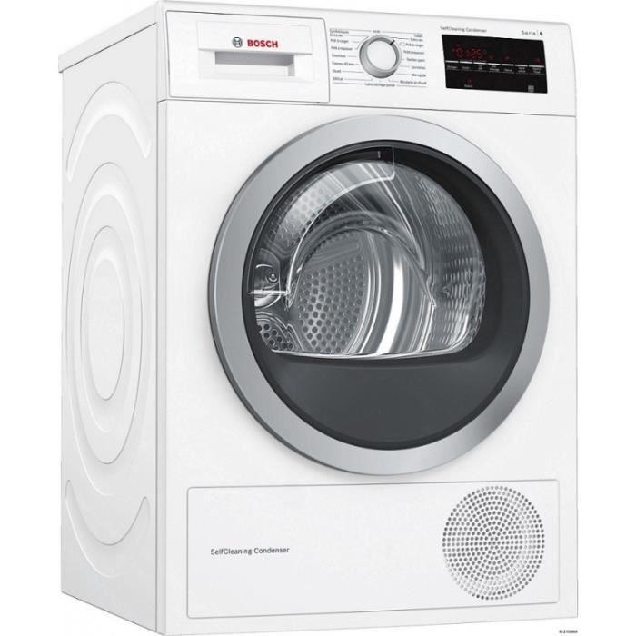SÈCHE-LINGE Sèche-linge BOSCH - WTH85290FF - Pompe à chaleur -