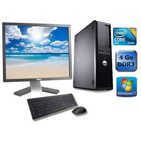 UNITÉ CENTRALE + ÉCRAN Dell Optiplex 780 - 4 Go - Windows 7 + Ecran 19''