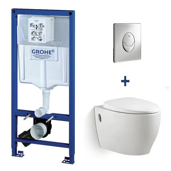 pack wc suspendu grohe darko blanc achat vente bati support pack wc suspendu grohe dark. Black Bedroom Furniture Sets. Home Design Ideas