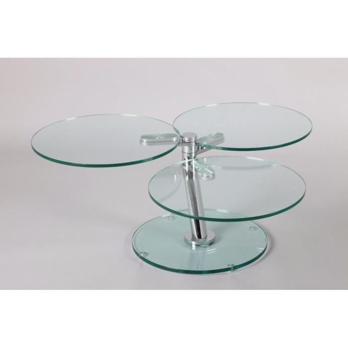 Table basse nemesis en verre achat vente table basse for Table basse verre but