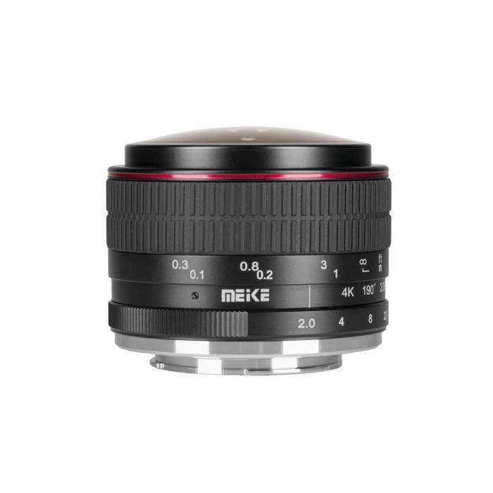 OBJECTIF Meike objectif fisheye 6.5 mm f/2.0 pour Canon M m