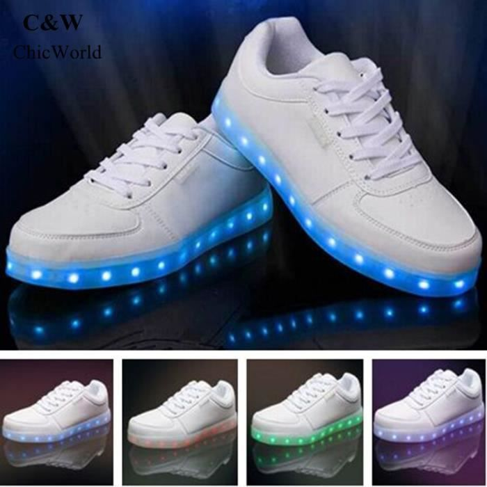 LED Homme et Femme Chaussures Grande Taille 7 C...
