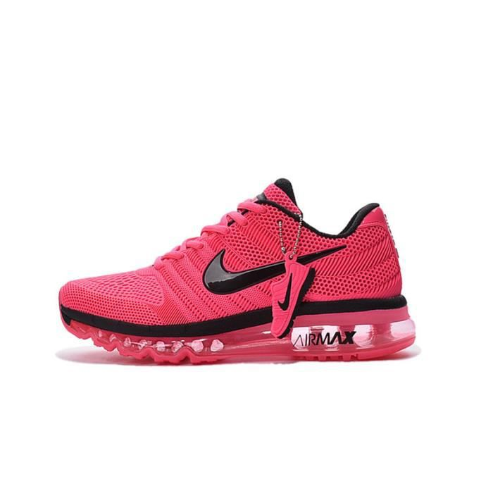 eb2678c8bee24 Basket Nike Air Max 2017 chaussures de sport femme Rose Rose - Achat ...