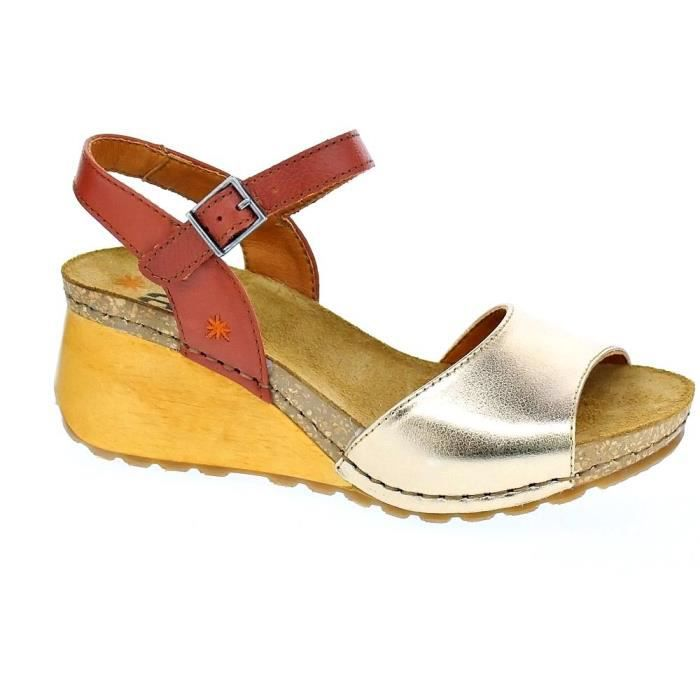 SANDALE - NU-PIEDS Sandales - Art Company Borne Femme Or. Chaussures ... 3cb981ad65f
