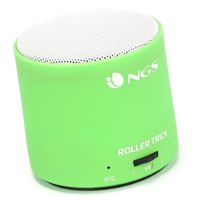 mini enceinte bluetooth ngs rollertrick green prix pas cher cdiscount. Black Bedroom Furniture Sets. Home Design Ideas