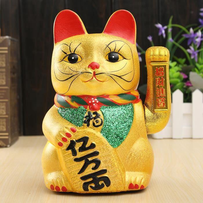 Céramique Chinois Chanceux Agitant Porte Bonheur Maneki Neko