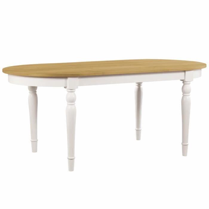Vidaxl Table De Salle A Manger Ovale 180x90x75 Cm Bois De Chene