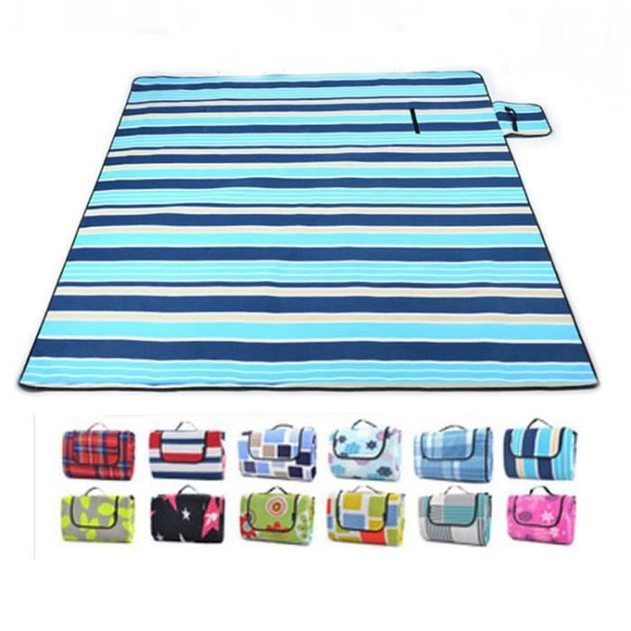 2x2m grand format tapis de plage imperm able pliable camping pique nique plage couverture. Black Bedroom Furniture Sets. Home Design Ideas