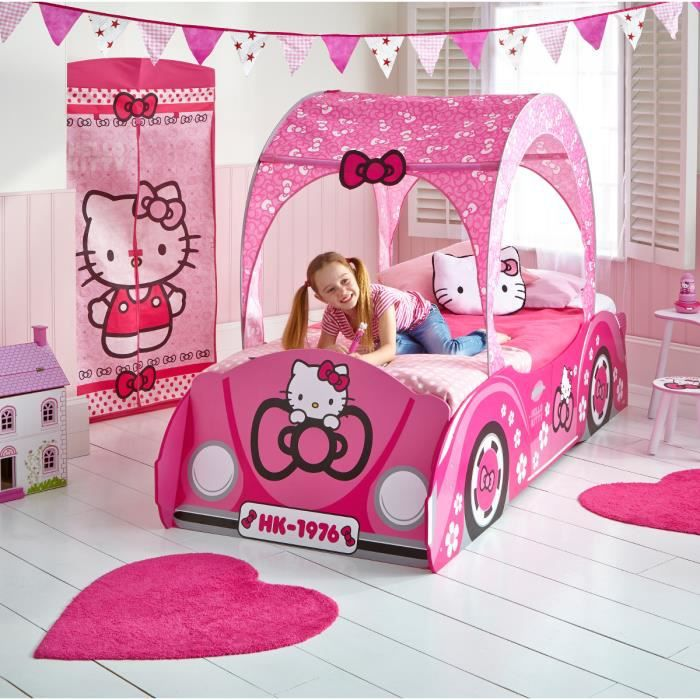 hello kitty lit enfant baldaquin 90x190cm achat vente structure de lit cdiscount. Black Bedroom Furniture Sets. Home Design Ideas