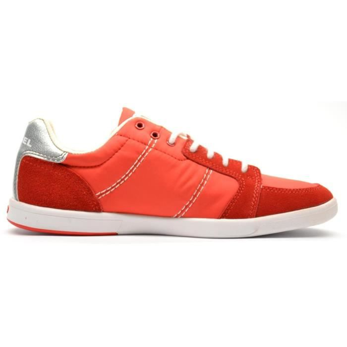 DIESEL baskets basses homme HUTSKY rouge 7Hqjf7T