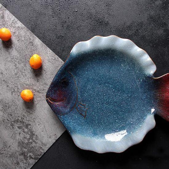 servierschale pour Poissons et fruits de mer de céramique 17 cm Poisson-Assiette