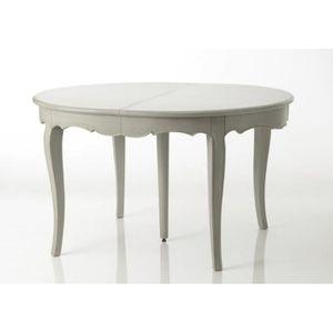 TABLE À MANGER SEULE Table à manger ronde chic avec rallonge patinée gr