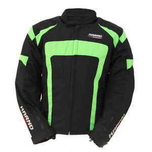 BLOUSON - VESTE Kt020 Blouson moto Spirit Green fluo XS Noir Et Ve