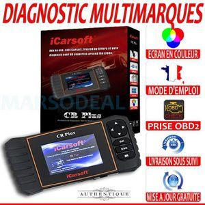 GPS AUTO iCARSOFT CR PLUS + Valise Diagnostic MULTIMARQUES