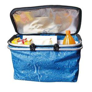 Table de camping pliant pliable avec Isotherme Refroidisseur panier alimentaire /& Sac de voyage