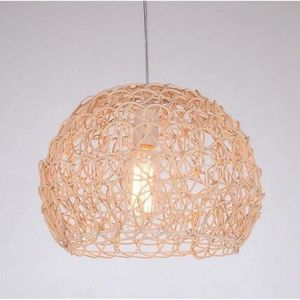 LUSTRE ET SUSPENSION Lustre - suspension Beige Nouveau Tissage Rotin Lu