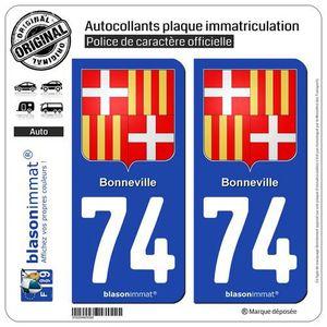blasonimmat 2 Autocollants Plaque immatriculation Auto 989-H Ile de Clipperton Armoiries