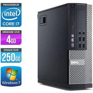 UNITÉ CENTRALE  PC Dell 7010 SFF - Core i7-3770 3,4GHz -4Go -250Go