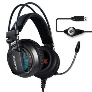 CASQUE AVEC MICROPHONE Casque Gaming Over-Ear USB Headset, Son Surround ,