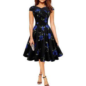 ROBE Tomwell Femme Robe Vintage Années Audrey Hepburn S
