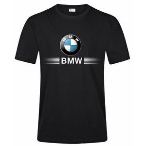 T-SHIRT BMW Auto Logo T Shirt Homme Fashion Casual 100% Co