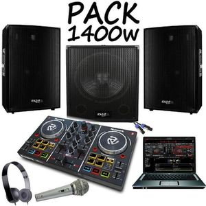 PACK SONO PACK SONO AMPLIFIÉ 1400W + CONTROLEUR PARTY MIX NU