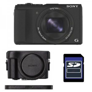 APPAREIL PHOTO COMPACT SONY Compact DSC-HX60V avec GPS  + ETUI + SD 4 Go
