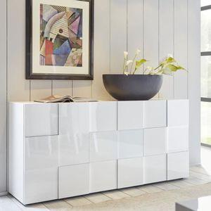 BUFFET - BAHUT  Buffet 3 portes Laqué Blanc brillant - TICATO - L