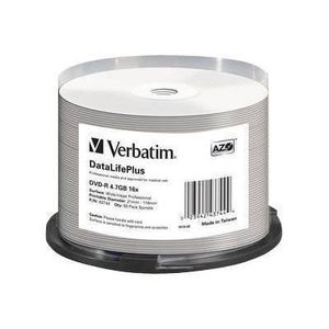 CD - DVD VIERGE VERBATIM Lot de 50 DVD-R DataLifePlus Professional