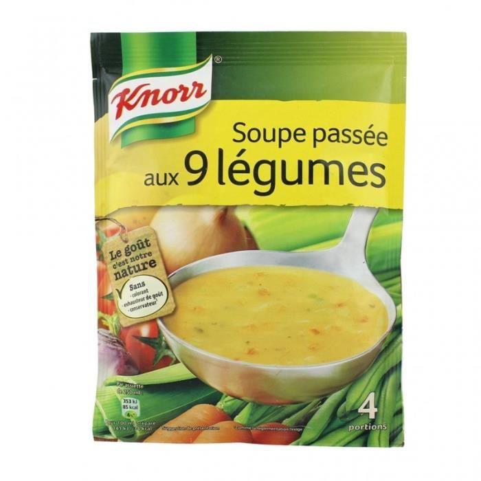 Knorr Soupe Passée aux 9 Légumes 105g (lot de 6)