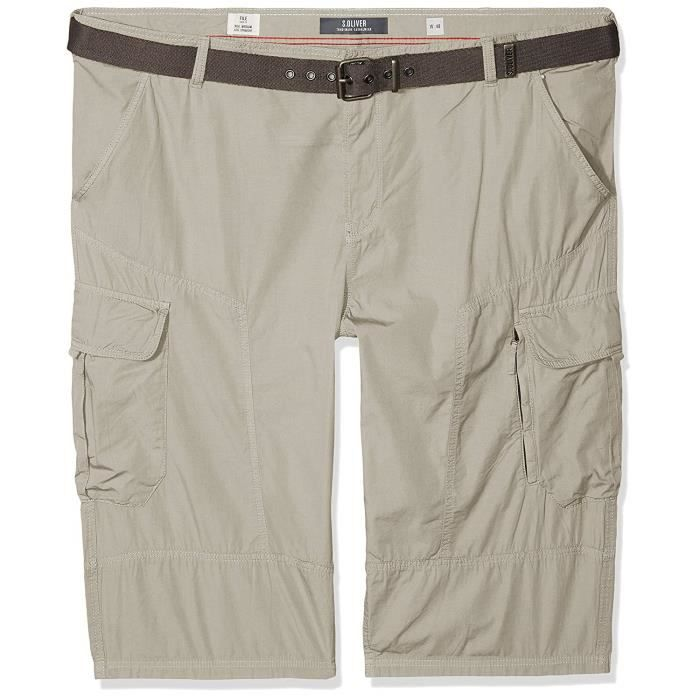 s.Oliver Big Size 15.806.74.5060 Short, Gris (Sun Bleached Grey 9114), 44 W Homme - 15.806.74.5060-9114