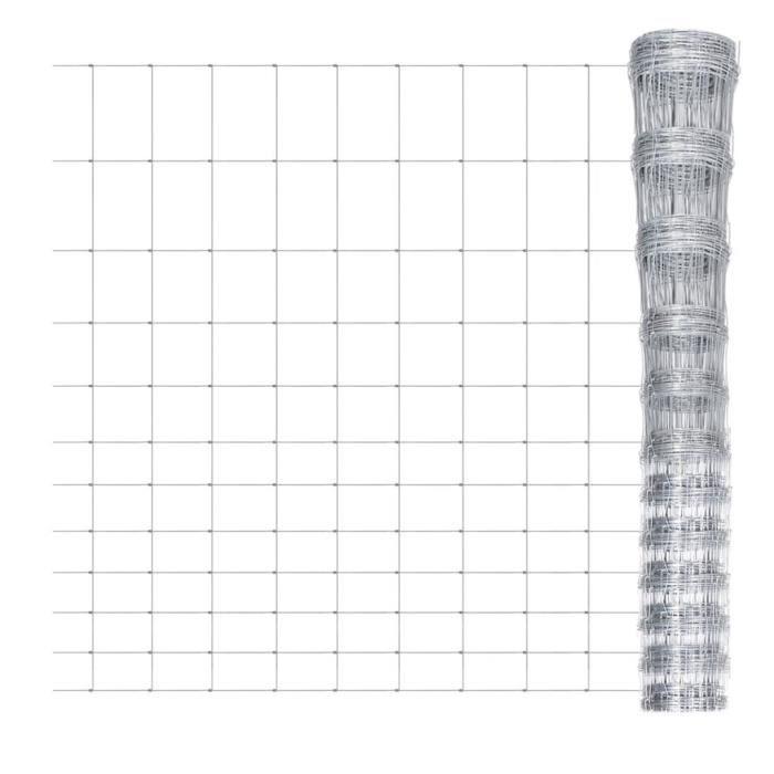 ♪♪4656 Clôture Classique - Clôture de jardin Brise vue Brise vue Acier galvanisé 50 m 150 cm MEUBLE®
