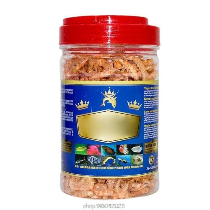 Nourriture pour poissons tropicaux, crevettes séchées et congelées, tortue cichlide saine, nourriture pour reptiles, [2E91BEE]