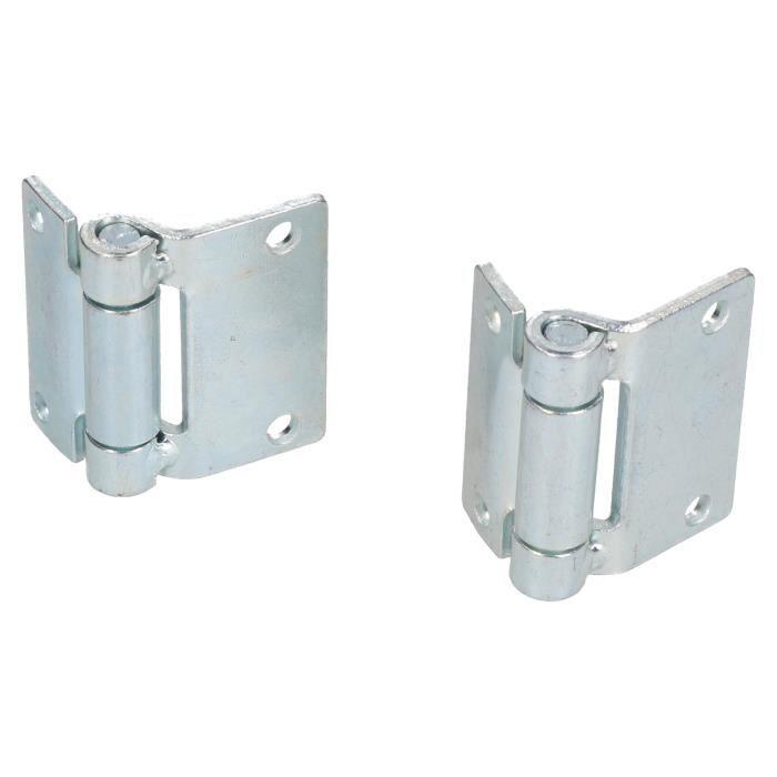 Charnière en acier pressé Heavy Duty 65x73mm Casier de trappe de porte industrielle 2PK