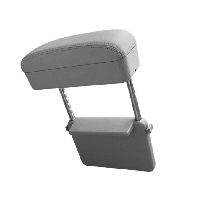 Universal Car Mounted Accoudoir Box Central Box Coude Support Pad Console De Voiture Centre Accoudoirs pour Voiture Gris