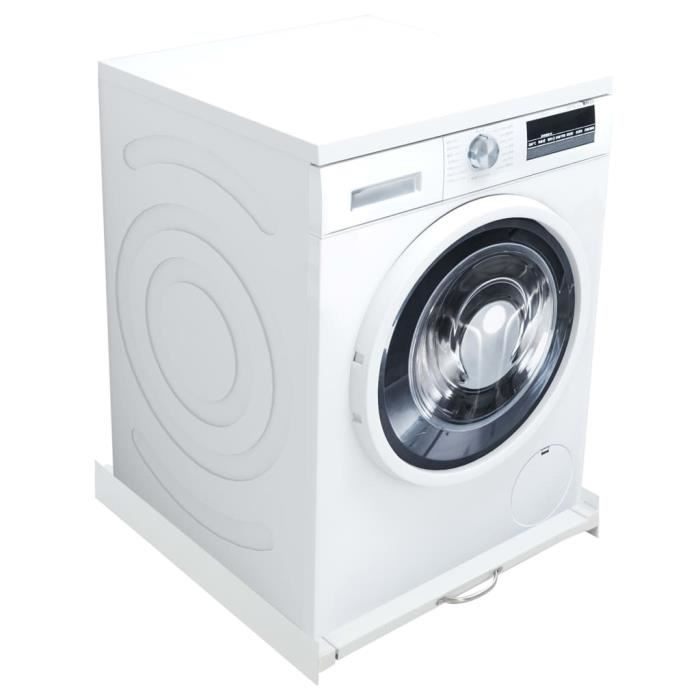 {BEAU}9053 Haute qualité Kit pour tour de lavage-séchage avec étagère coulissante - Lave-Linge Kit de Superposition