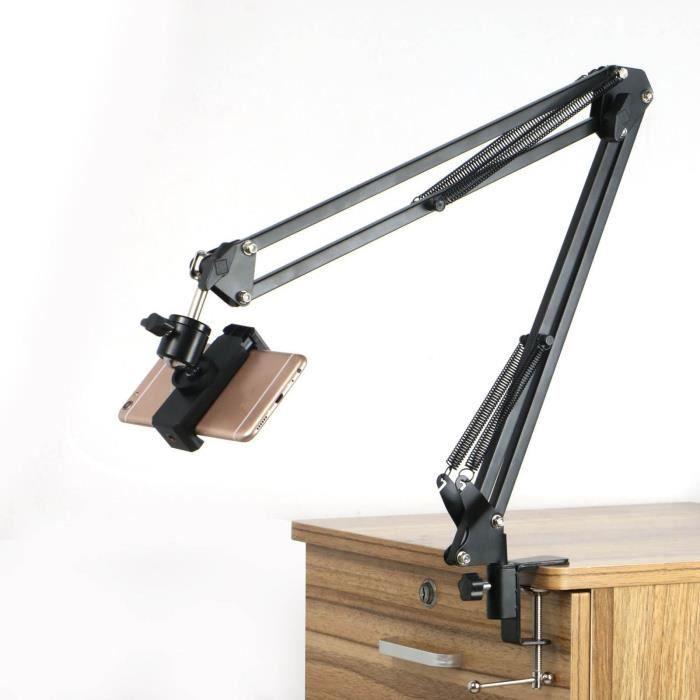 Bras de ciseaux de suspension Support de webcam Support de trépied de téléphone Support de caméra_f3