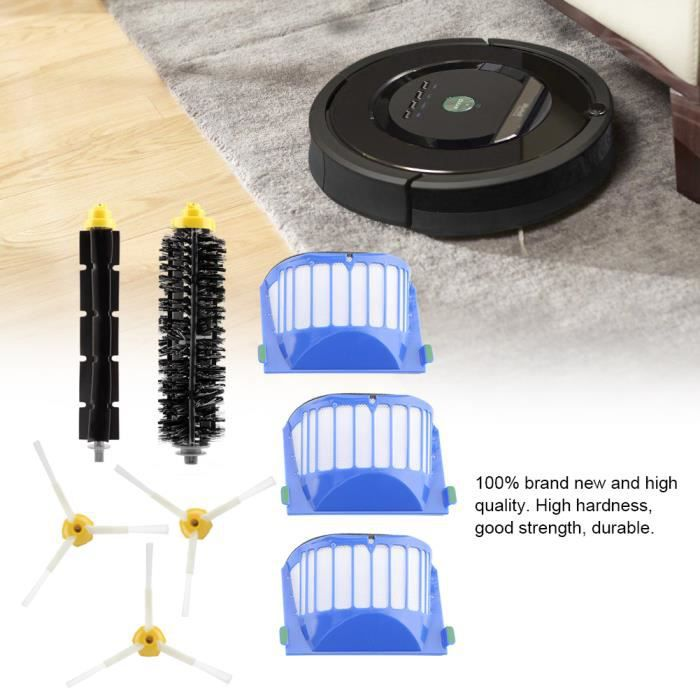 Kit de brosse pour filtres HEPA pour aspirateur iRobot Roomba 500-600-700 Series -QUT