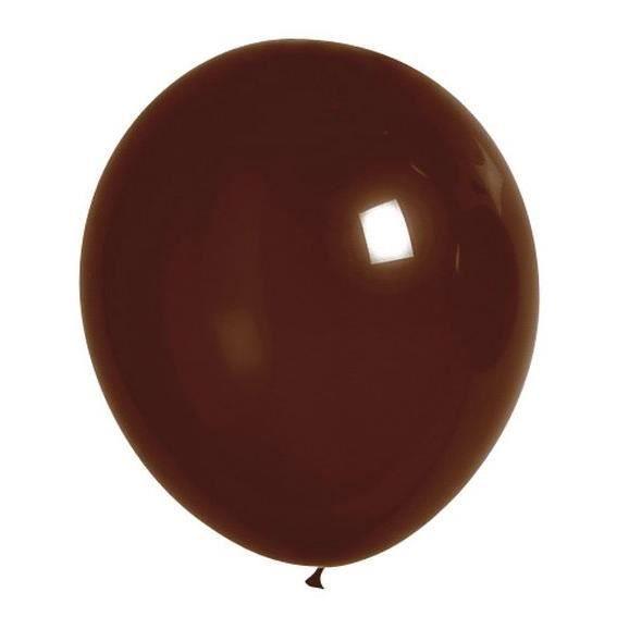 Lot de 100 ballons en latex opaque chocolat
