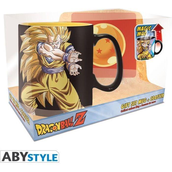 DRAGON BALL Z Coffret cadeau Mug thermo-réactif + Coaster Goku Kamehameha
