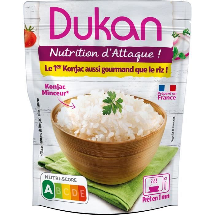 DUKAN Perles de riz de Konjac - Minceur Précuit - 225 g
